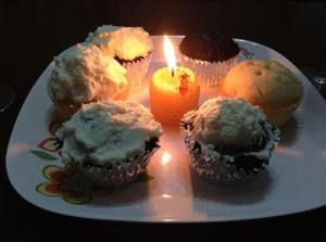 Homemade birthday cupcakes