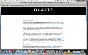 Quartz daily brief