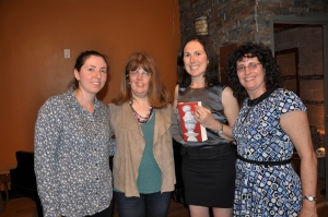 Susan and I with the event's co-hosts Dina and Risa